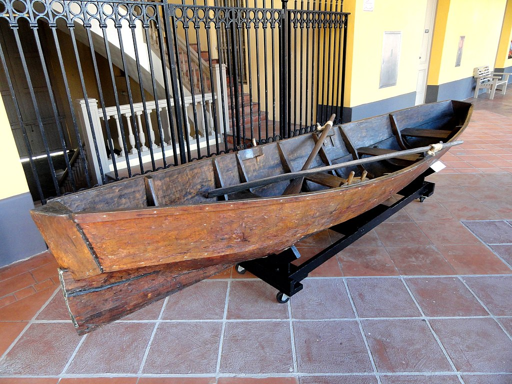 File:Canoe carved from tree trunk by Black-Caribs of ...