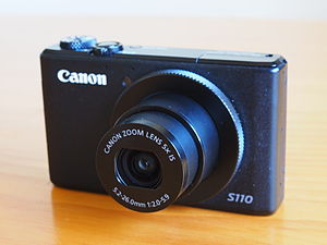 Canon PowerShot S110 - Image: Canon Power Shot S110 with lens extended