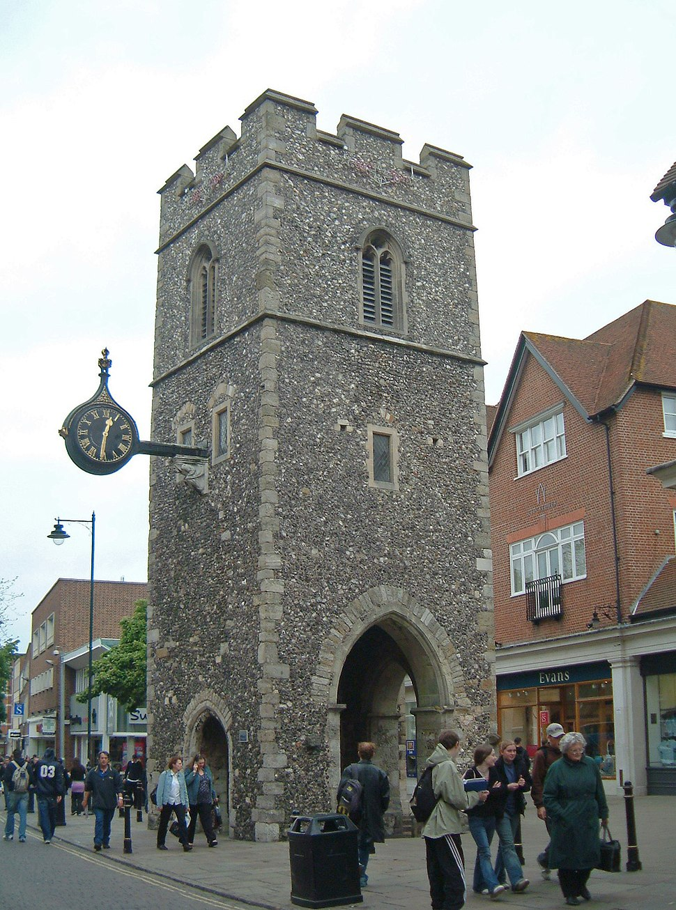 Canterbury - Turm der St. George's Church, in der Marlowe getauft wurde