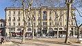 Carcassonne - Façade de l'Hotel Terminus vu du Square André Chénier.jpg