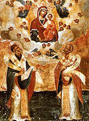 Saint Spiridon de Chypre et de Corfou et Saint Nicolas de Myre , atelier ionique