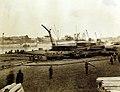 Cargo on the American Dock, Mole G, Marseille (Bouches-du-Rhone), France, 1918 (31772844100).jpg