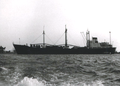 Cargo ship Stolzenfels from the DDG Hansa shipping at anchor at Port Said in 1961.png