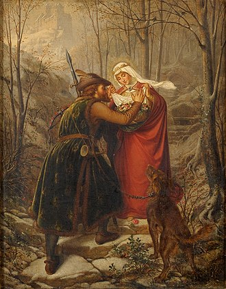 Carl Oesterley - Elizabeth of Hungary and the Miracle of the Roses (1869)