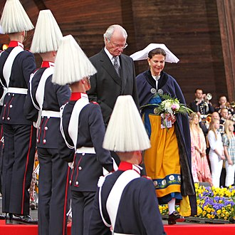 National Day of Sweden - King Carl XVI Gustav and Queen Silvia at Skansen in 2009