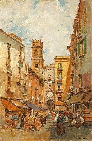 Carlo Brancaccio - Image: Carlo Brancaccio Straßenansicht in Neapel