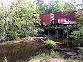 Carolina Southern Railroad August 2013 Storage Boxcars long since moved on Bridge - panoramio (1).jpg
