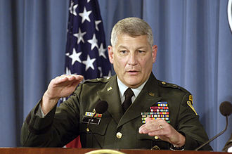 Carter Ham - Ham speaking to reporters during a press briefing at the Pentagon in October 2005.