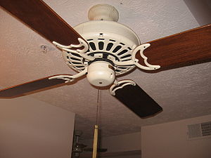 "Ceiling fan - Casablanca Fan Co. ""Delta"" ceiling fan from the early 1980s."