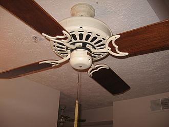 """Ceiling fan - Casablanca Fan Co. """"Delta"""" ceiling fan from the early 1980s."""