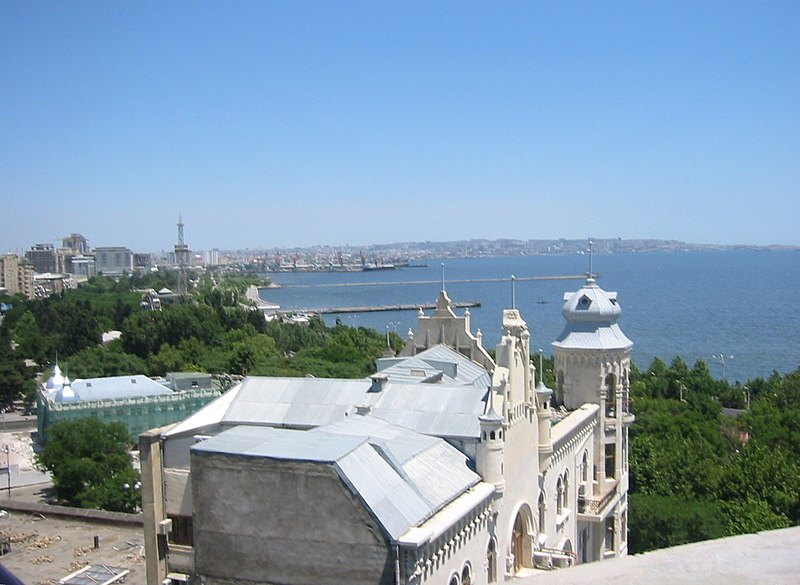 Caspian Sea View from top of Maiden Tower - panoramio.jpg