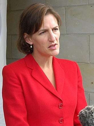 Cassy O'Connor - O'Connor addresses media, Hobart, March 2006