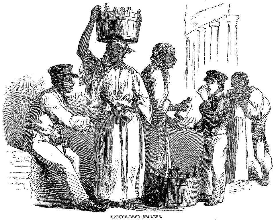 Cast-away in Jamaica - Spruce-Beer Sellers