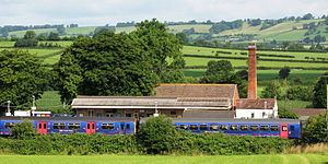 Castle Cary railway station - Image: Castle Cary station from the south 153369 150238
