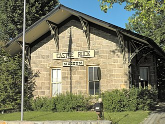 National Register of Historic Places listings in Douglas County, Colorado - Image: Castle Rock CO Depot