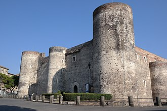 Louis, King of Sicily - The Castello Ursino, where the peace of Catania was signed in 1347 and Louis's primary residence from June–November 1353