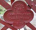 Catrine pedestrian bridge maker's plaque.JPG