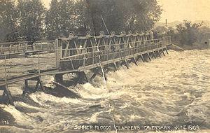 Caversham Lock - Caversham Weir in 1903