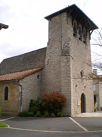 Cayrols - The church in Cayrols
