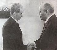 Ceausescu & Gorbachev 1985