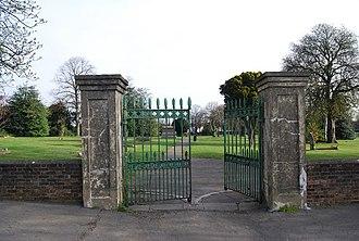 City of London Building Society v Flegg - Image: Cemetery entrance, Grange Rd geograph.org.uk 1237180