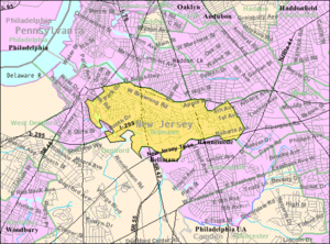 Bellmawr, New Jersey - Image: Census Bureau map of Bellmawr, New Jersey