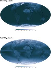 المتوسط السنوي لسماء صافية ومجموع الوضاءة للسماء
