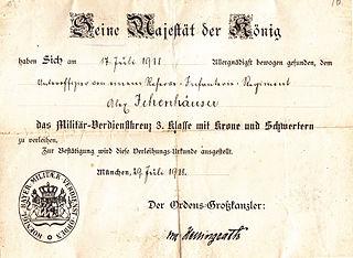 Military Merit Cross (Bavaria) Award