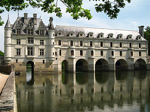 Jean Bullant - Bullant's Galerie over Philibert Delorme's bridge at Chenonceaux