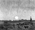 Charles-Francois Daubigny - Landscape Sketch, Moonlight - KMS2026 - Statens Museum for Kunst.jpg