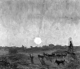 Landscape Sketch, Moonlight