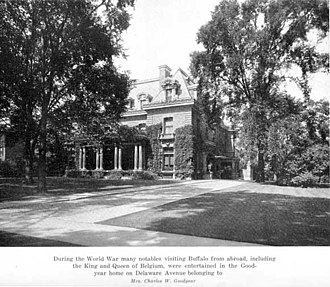 Charles W. Goodyear House - Image: Charles W Goodyear Front (East) Elevation