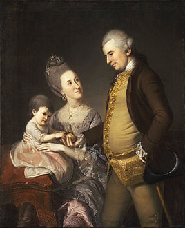 Charles Willson Peale, American - Portrait of John and Elizabeth Lloyd Cadwalader and their Daughter Anne - Google Art Project.jpg