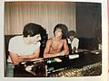 "Charlie Amato con Hector Zeta Bosio - Grupo ""The Morgan"" en el estudio grabando ""Is this all there is to see"" y ""Lanza Perfume"".JPG"