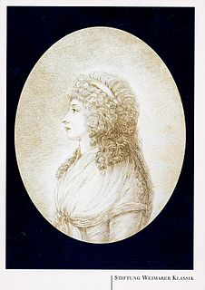lady-in-waiting at the court in Weimar and a close friend to both Friedrich Schiller and Johann Wolfgang von Goethe