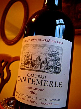 Château Cantemerle - Image: Chateau Cantemerle bottle