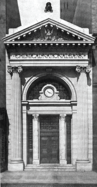 Chemical Bank - Chemical National Bank offices at 270 Broadway, ca. 1913
