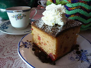 "Cherry madeira cake at ""The Tea Cosy""..."