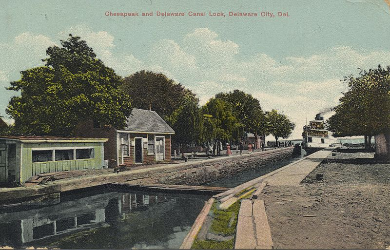 File:Chesapeak and Delaware Canal Lock.jpg
