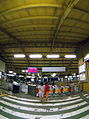 Chiayi Station, boarding entrance, fisheye view (Taiwan).jpg