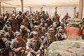 Chief of Staff of the U.S. Army Gen. Raymond T. Odierno, foreground, speaks to Soldiers at Forward Operating Base Azzizullah in Kandahar province, Afghanistan, Aug. 7, 2013 130807-A-VM825-056.jpg