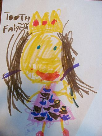Tooth fairy - Child's drawing of the Tooth Fairy