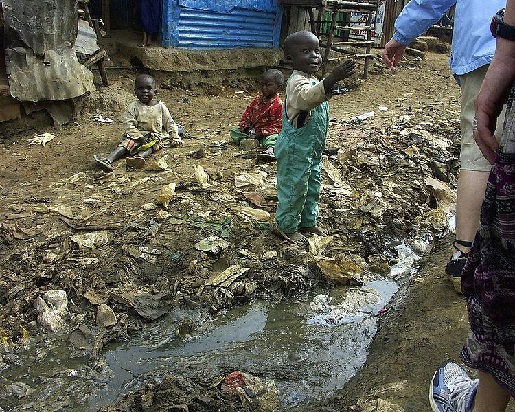 File:Children and open sewer in Kibera.jpg