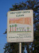 Childrens Litter PRevention Sign