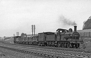 Chiltern Green railway station - A local goods train near Chiltern Green in 1950