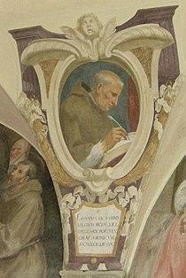 Chiostro di ognissanti, personalità francescane 15 Giovanni da Morrovalle.JPG