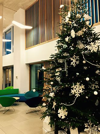 Newman University, Birmingham - Christmas 2016, Atrium, Newman University, Birmingham