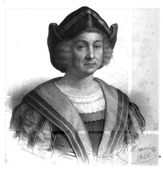 Portrait de Christophe Collomb né à Gènes en 1506 par Antoine Maurin.