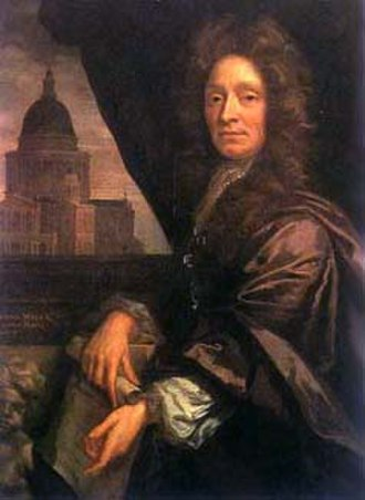 Christopher Wren - Wren, portrait c.1690 by John Closterman