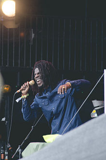 Chronixx on the Pyramid Stage at the Glastonbury Festival of Performing Arts 2015.jpg